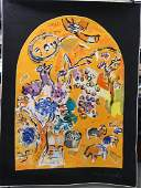 ARTNOVA 'JERUSALEM WINDOWS' TAPESTRY AFTER CHAGALL