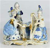 DRESDEN VOLKSTEDT LACE PORCELAIN ORCHESTRA GROUP