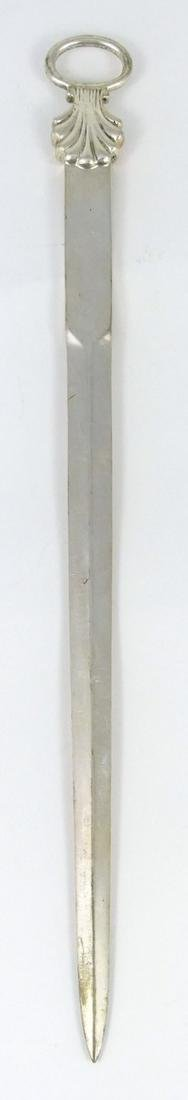 TIFFANY & CO STERLING SILVER SHELL LETTER OPENER