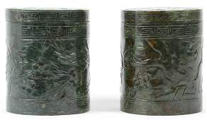 PR CHINESE SPINACH JADE COVERED BOXES