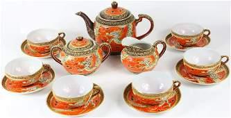 15pc JAPANESE DRAGONWARE PORCELAIN TEA SET