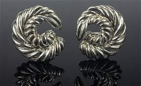PR TIFFANY & CO STERLING SILVER LEAF EARRINGS