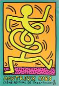 KEITH HARING 'MONTREUX JAZZ FESTIVAL' SCREENPRINT