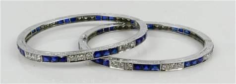 PR PLATINUM DIAMOND & SAPPHIRE BRACELETS