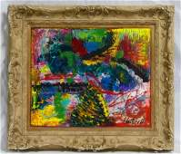 AFTER JOAN MITCHELL ABSTRACT OIL PAINTING / CANVAS