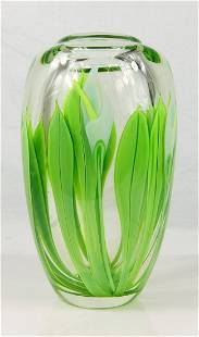 ORIENT & FLUME ART GLASS LILIES VASE