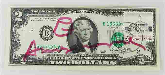 ANDY WARHOL $2 FIRST DAY COVER OCTOBER 29, 1979