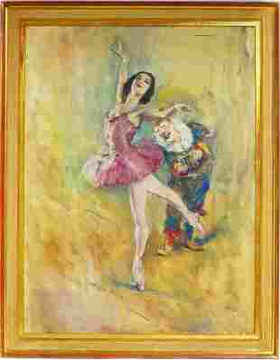 PAL FRIED 'BALLERINA' OIL PAINTING ON CANVAS