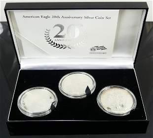 AMERICAN EAGLE 20th ANNIVERSARY SILVER COIN SET