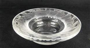 LALIQUE CRYSTAL IRENE SPARROWS PIN DISH