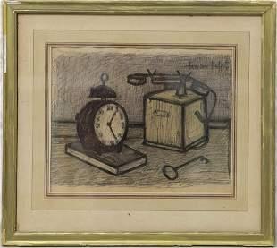 MANNER OF BERNARD BUFFET PEN & INK ON PAPER