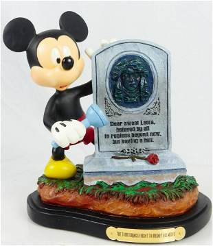 DISNEY HAUNTED MANSION TOMB BRINGS FRIGHT MICKEY