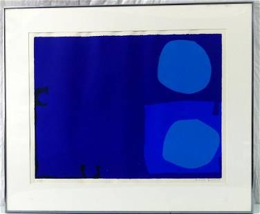 PATRICK HERON 'FOUR BLUES, TWO DISCS' SCREENPRINT