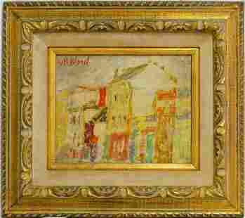 MAURICE BLOND 'CITYSCAPE' OIL PAINTING ON CANVAS