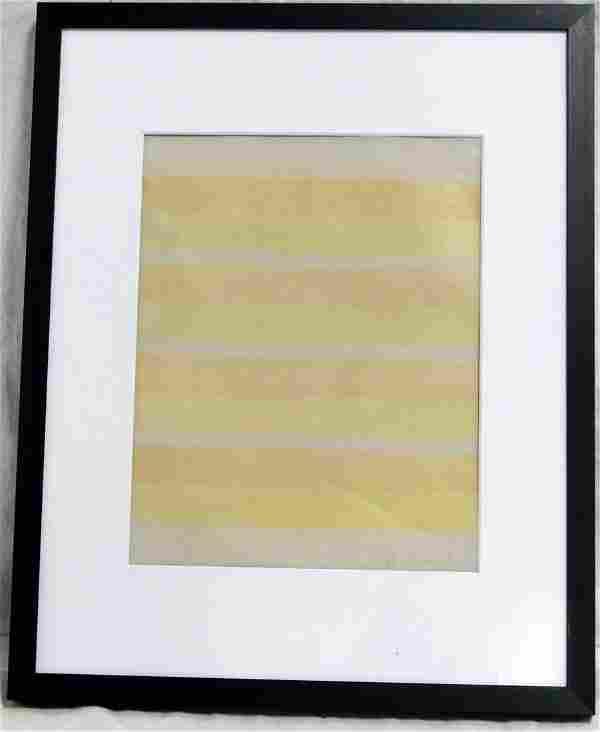 AGNES MARTIN COLOR LITHOGRAPH ON VELLUM PAPER