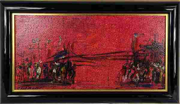 PASCAL CUCARO ABSTRACT FIGURES OIL PAINTING CANVAS