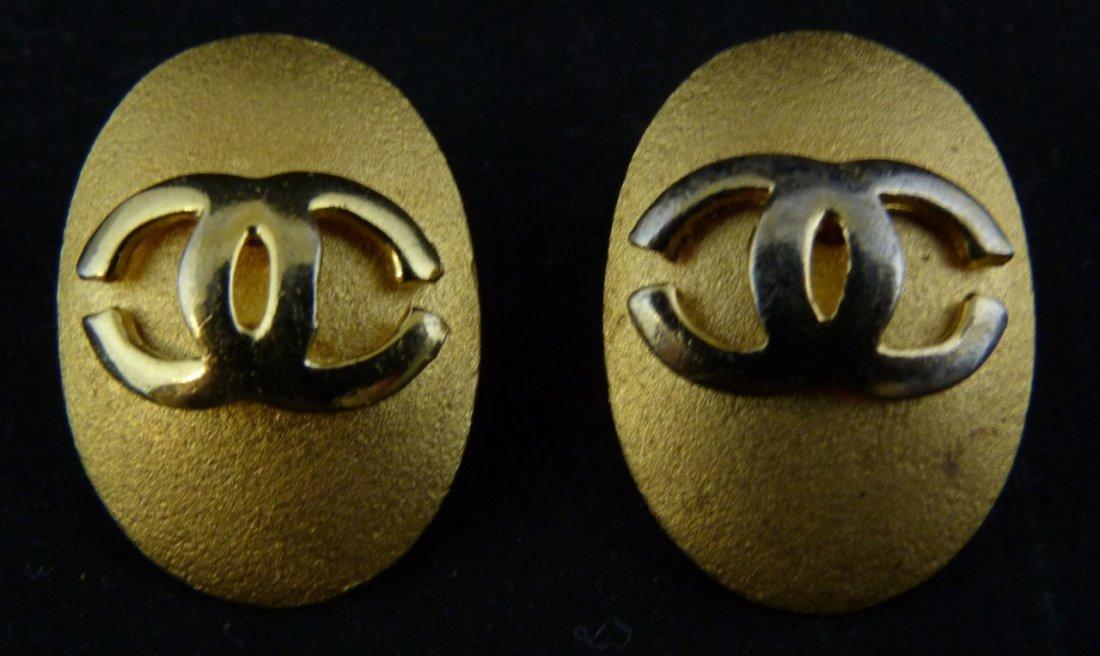 CHANEL COSTUME MONOGRAM EARRINGS