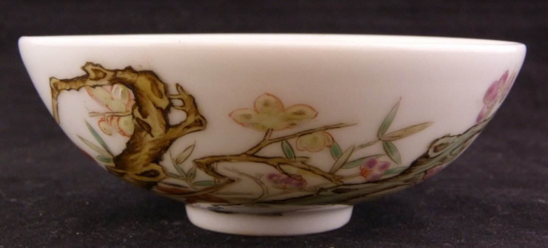 CHINESE FAMILLE ROSE SMALL PORCELAIN BOWL