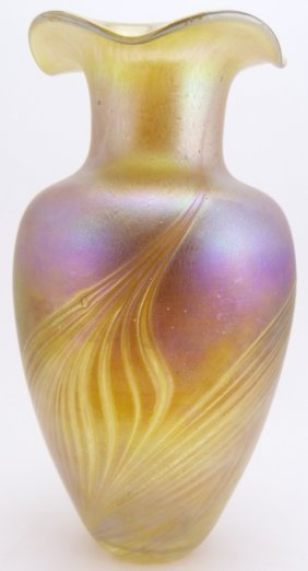 R. Held Signed Studio Art Glass Vase