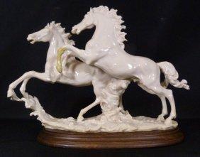Giuseppe Armani Ivory Porcelain Horse Group