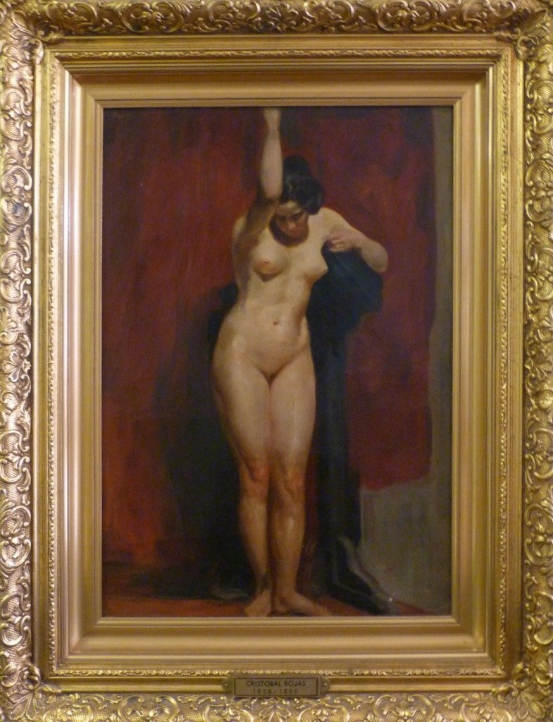 CRISTOBAL ROJAS 19TH C OIL PAINTING ON CANVAS