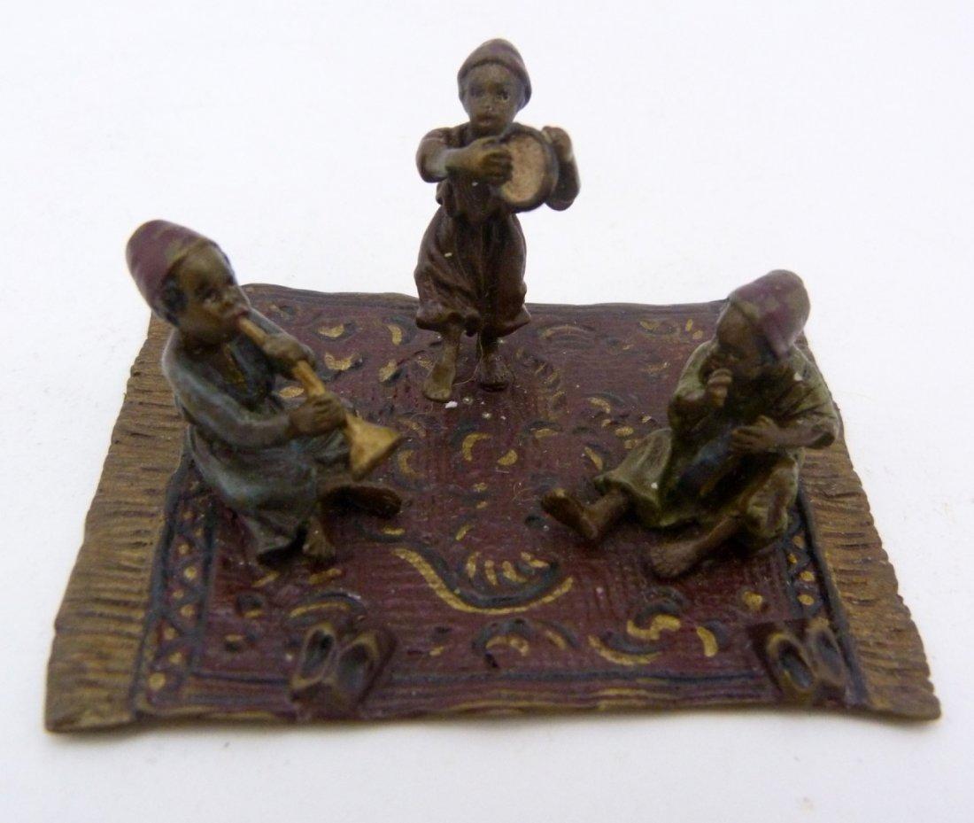 BERGMAN VIENNA BRONZE OF CHILDREN ON CARPET