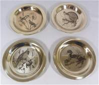 STERLING FRANKLIN MINT LIMITED EDITION PLATES