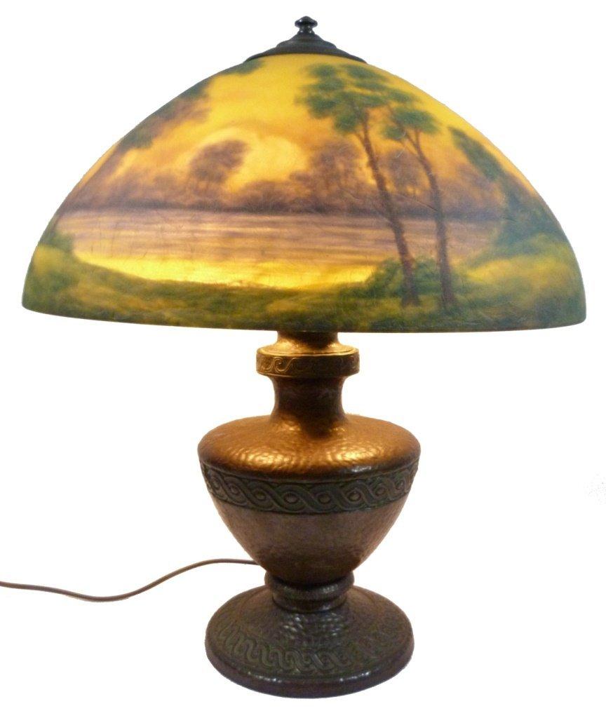 CLASSIQUE REVERSE PAINTED BRONZE TABLE LAMP