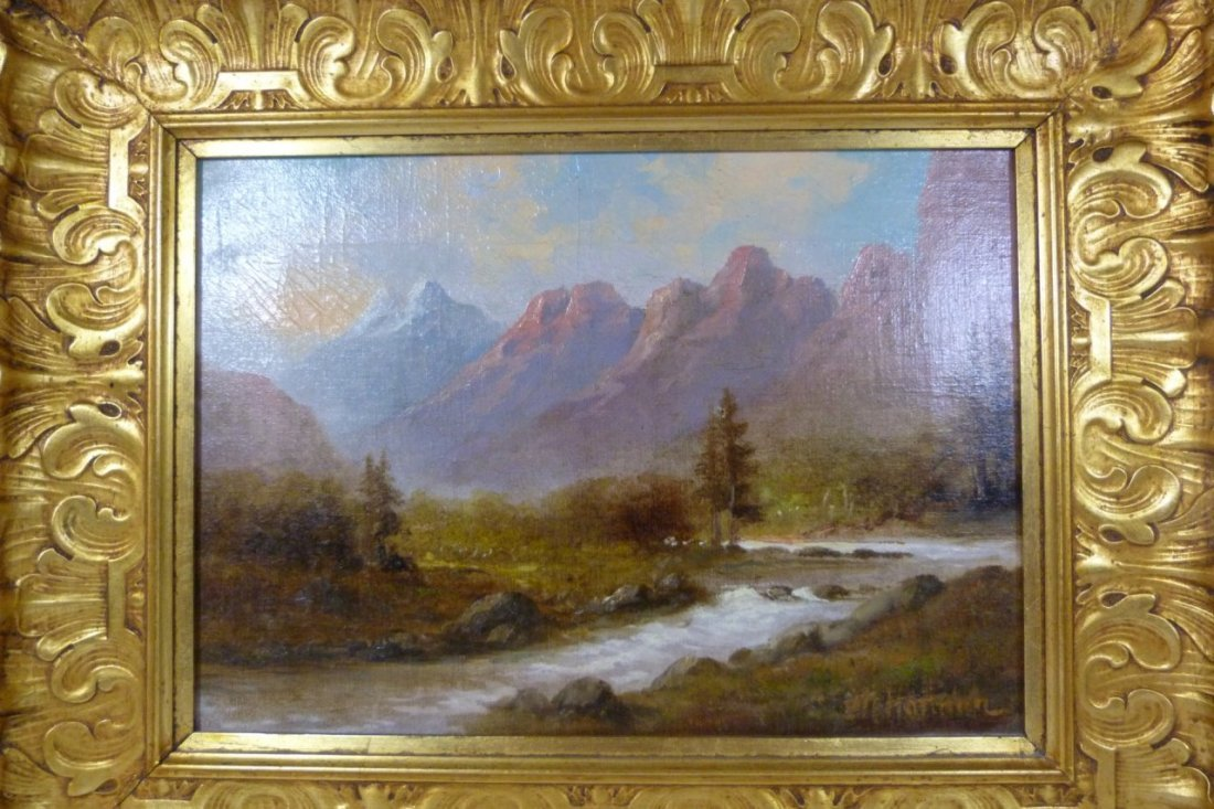 CHARLES HENRY HARMON OIL PAINTING ON CANVAS
