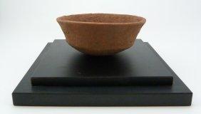 Pre Columbian Ancient Redware Bowl