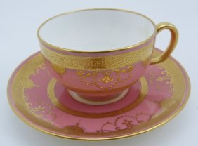 Minton English Tiffany & Co Tea Cup & Saucer