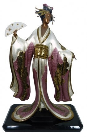 """Erte Limited Edition Bronze """"madame Butterfly"""""""