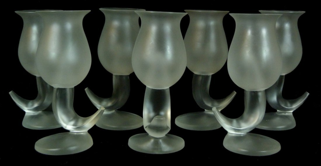 7 FRANK GEHRY AMSES COSMA FISH GOBLETS