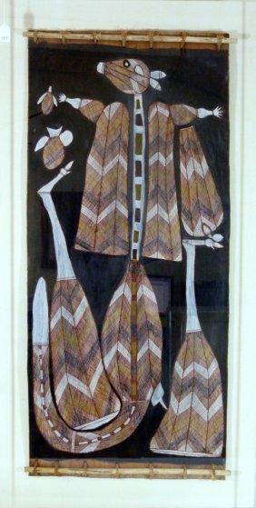 Billiago Nabegeyo Aboriginal Bark Painting