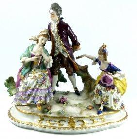 German Vintage Porcelain Figural Group