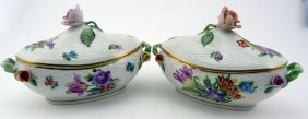 Pair Herend Hungary Porcelain Queen Victoria