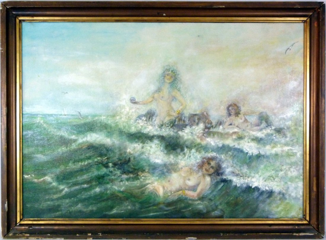 BENES KNUPFER OIL PAINTING ON CANVAS