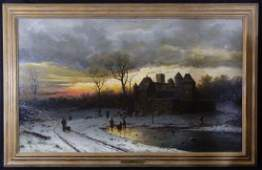 ERNESTO STRIGELLY 1883 OIL PAINTING ON CANVAS