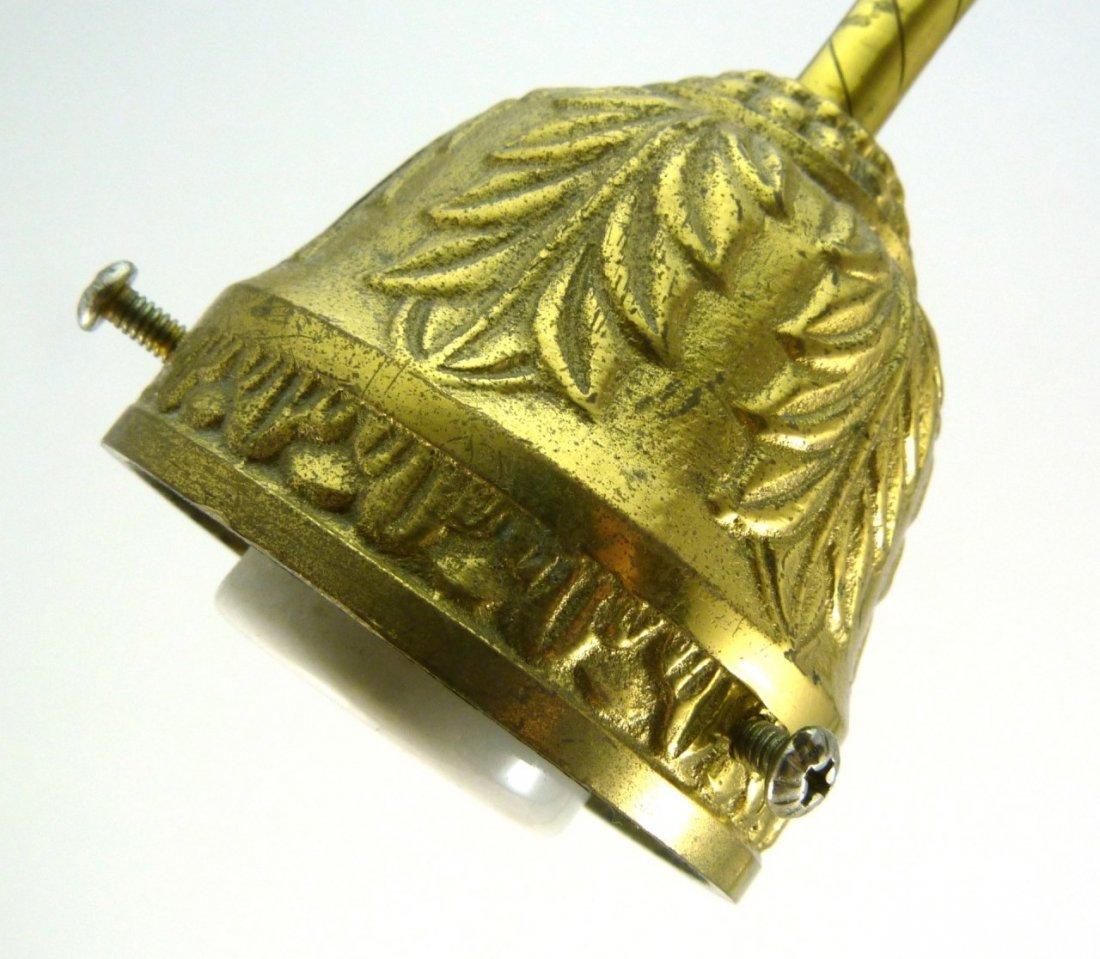 2pc STEUBEN CALCITE ETCHED SHADES w DESK LAMP - 7