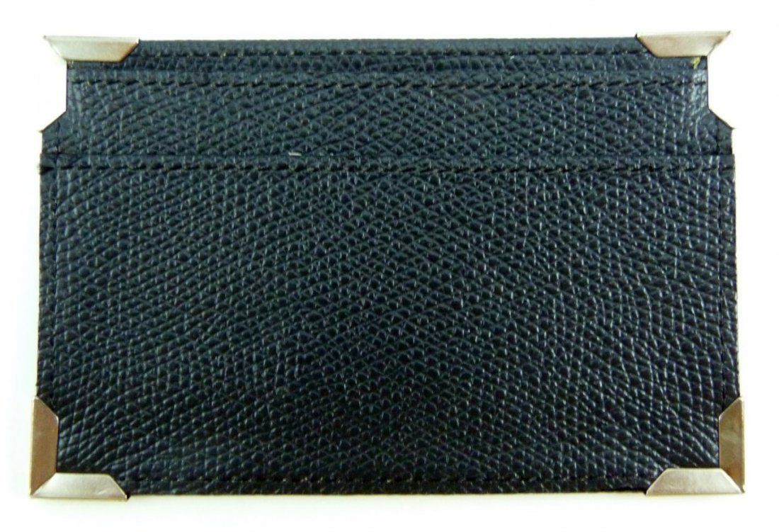 FENDI LEATHER AND CANVAS CARD CASE w BOX - 4