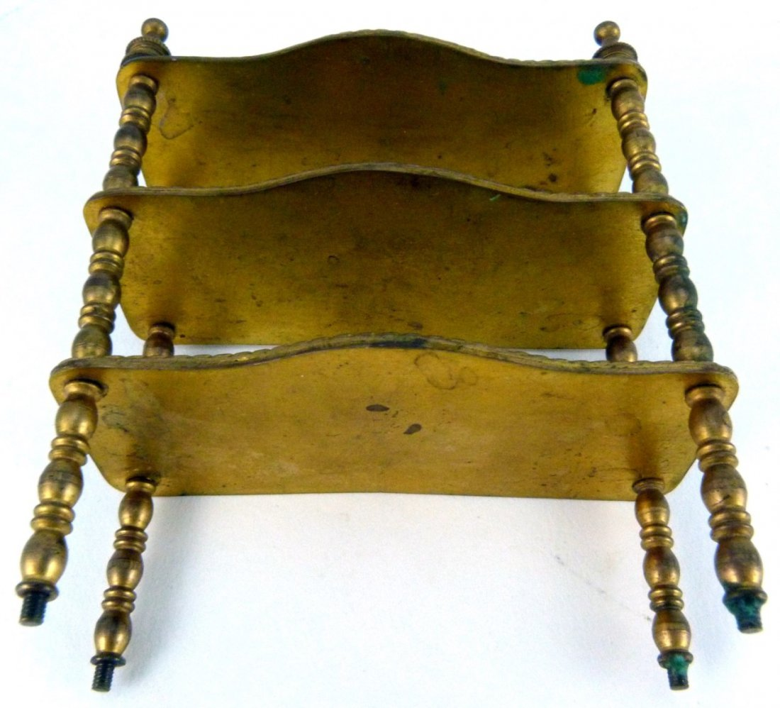 AUSTRIAN ENAMELED ORMOLU MINIATURE FURNITURE SHELF - 10