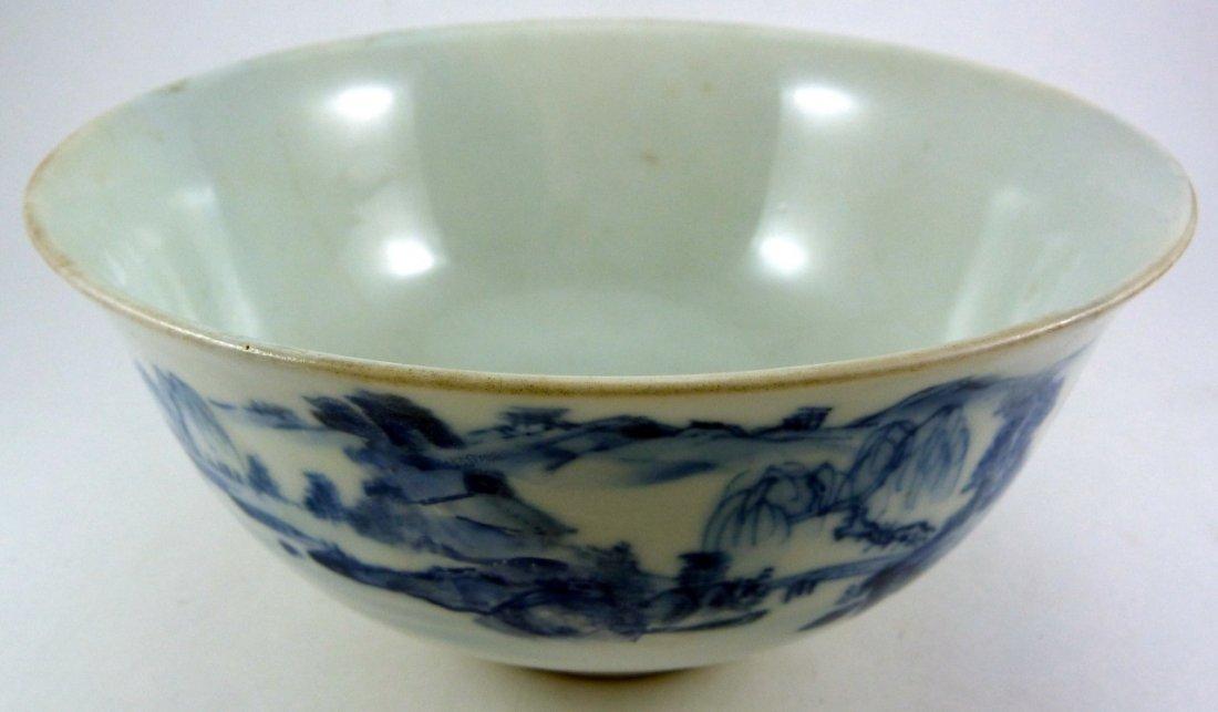 CHINESE KANGXI PORCELAIN BLUE & WHITE BOWL
