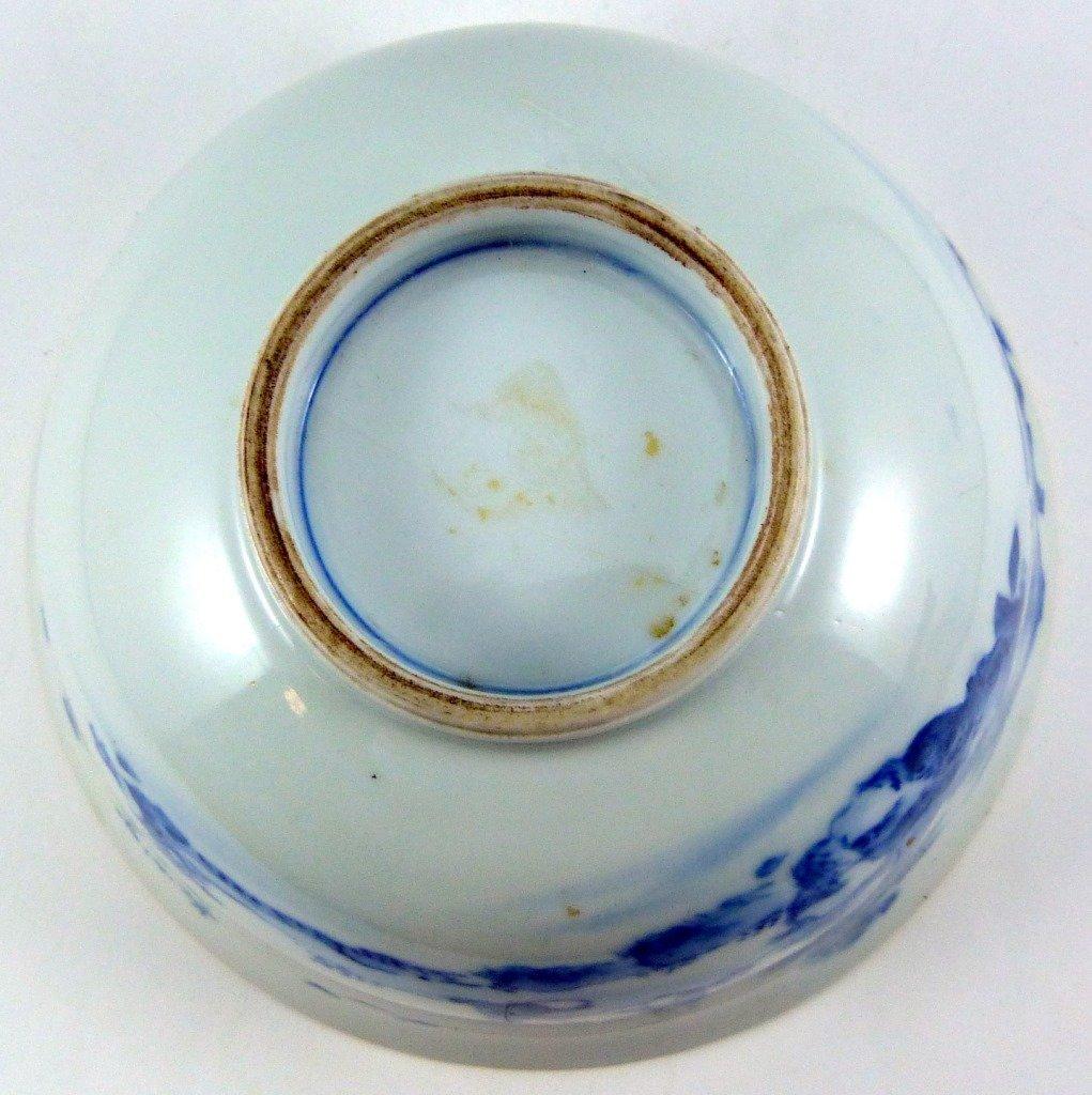 CHINESE KANGXI PORCELAIN BLUE & WHITE BOWL - 7
