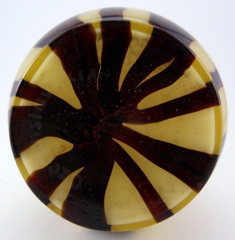 CZECH ART GLASS DOUBLE GOURD VASE - 6