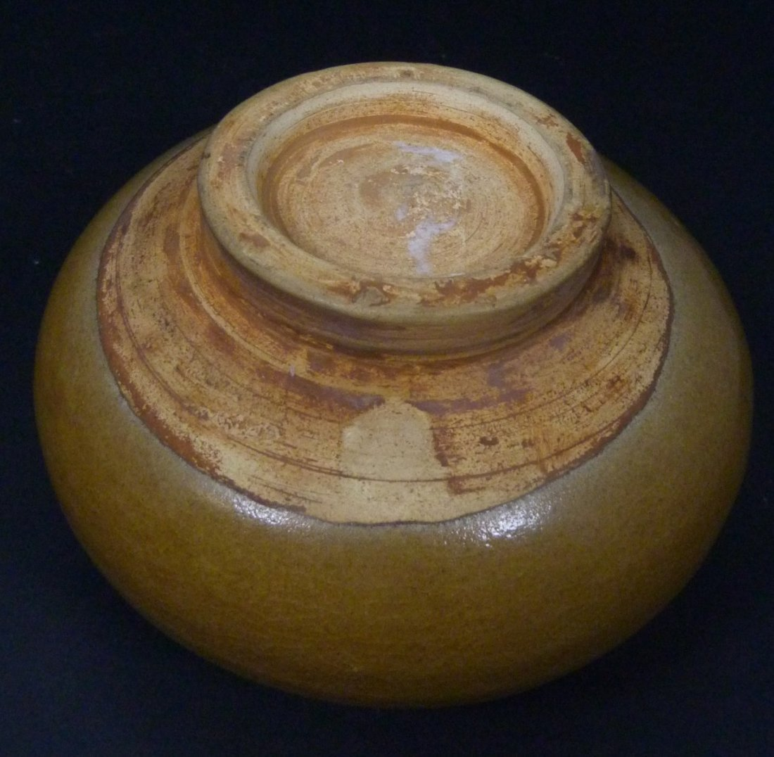 CHINESE BROWN GLAZED WATER POT - 7