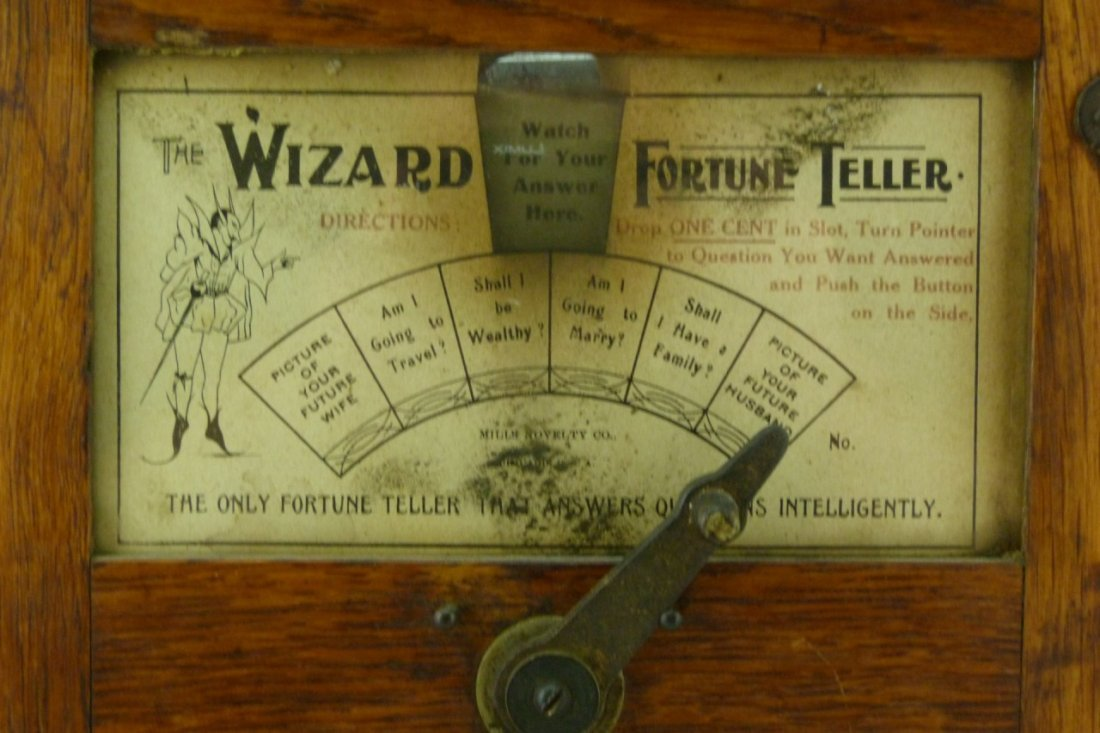 MILLS NOVELTY CO THE WIZARD FORTUNE TELLER - 2