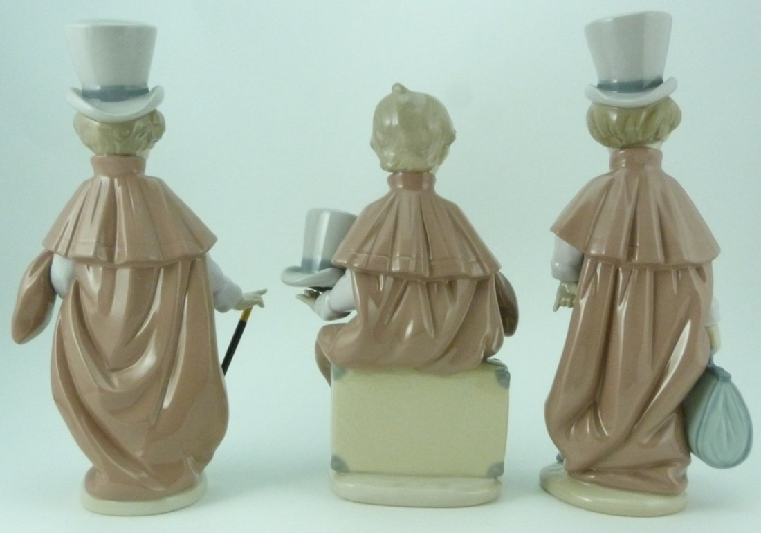 3pc LLADRO VICTORIAN BOYS PORCELAIN FIGURINES - 3