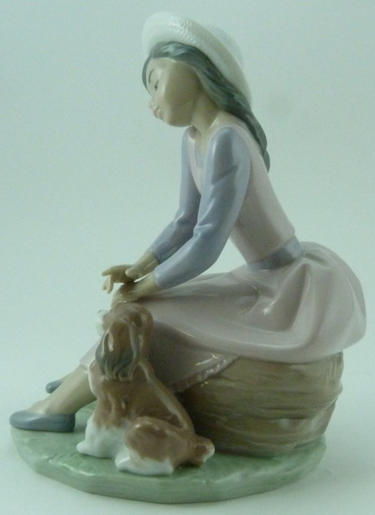 "LLADRO ""BY MY SIDE"" PORCELAIN FIGURINE #7645 - 2"