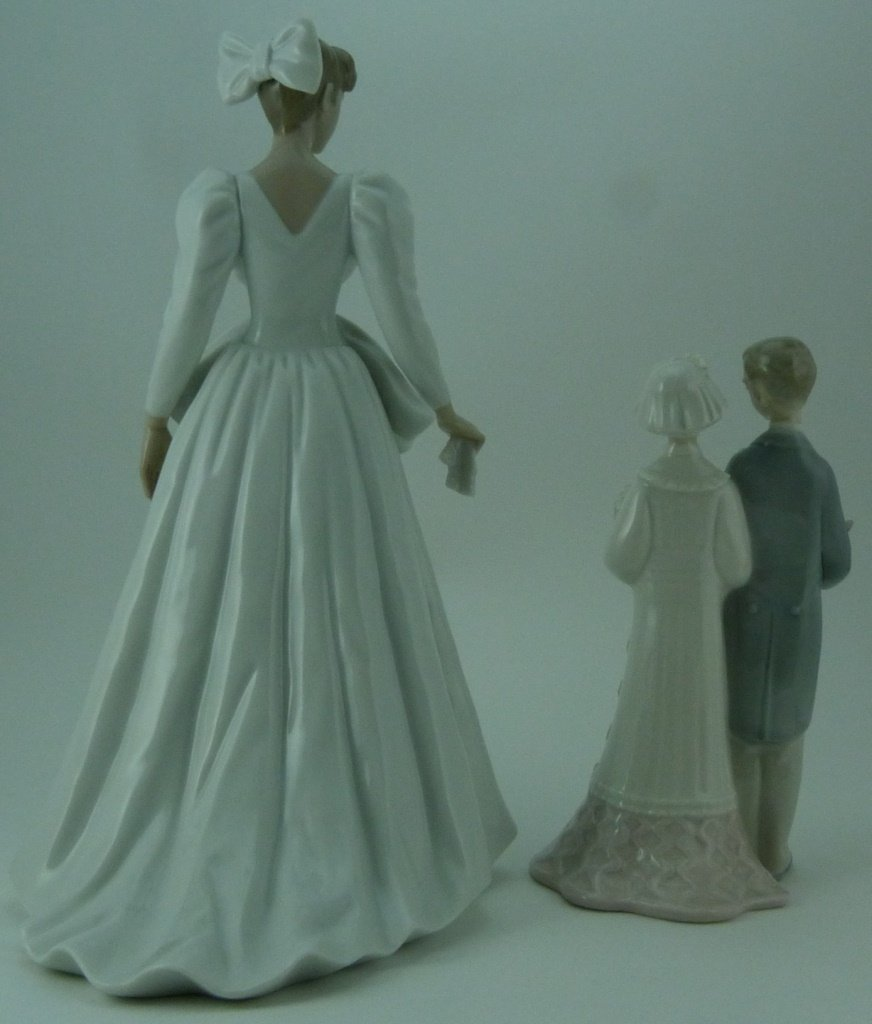 2pc LLADRO & NAO WEDDING PORCELAIN FIGURINES - 3