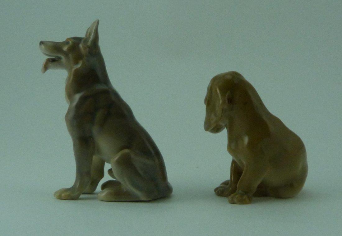 2pc ROYAL COPENHAGEN PORCELAIN DOG FIGURINES - 2